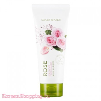 Nature Republic Real Nature Rose Foam Cleanser