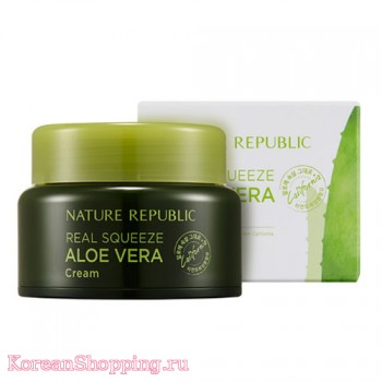 Nature Republic Real Squeeze Aloevera Cream