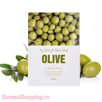 A'Pieu My Skin - Fit Sheet Mask - Olive