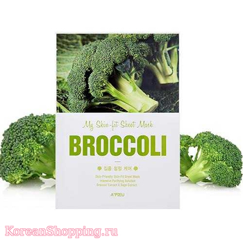 A'Pieu My Skin - Fit Sheet Mask - Broccoli