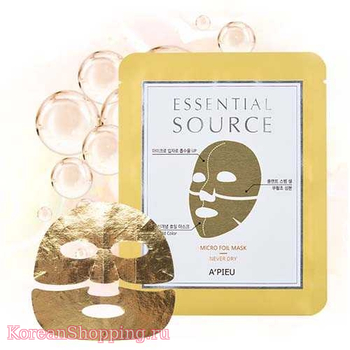 A'Pieu Essential Source Micro Foil Mask - Never Dry