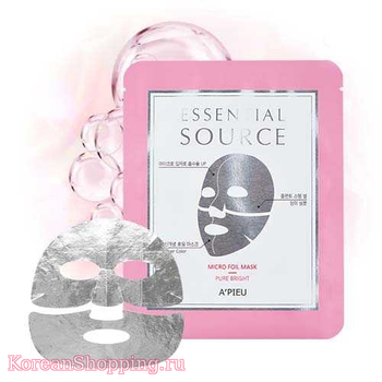 A'Pieu Essential Source Micro Foil Mask - Pure Bright