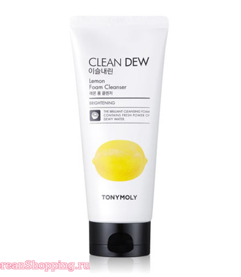 Tony Moly Clean Dew Lemon Foam Cleanser