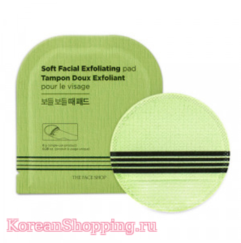 THE FACE SHOP Soft Facial Exfoliating Pad