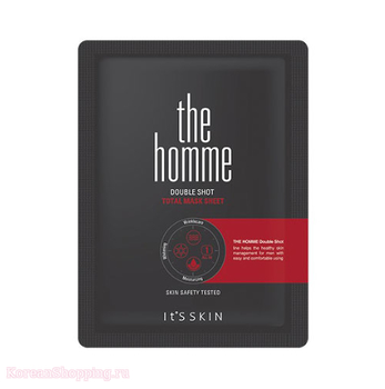 IT'S SKIN The Homme Double Shot Total Mask Sheet