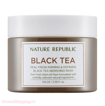 NATURE REPUBLIC Real Fresh Black Tea Nourishing Mask