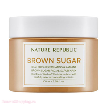 NATURE REPUBLIC Real Fresh Brown Sugar Facial Scrub Mask