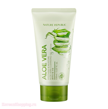 NATURE REPUBLIC Soothing & Moisture Aloe Vera Cleansing Gel Foam