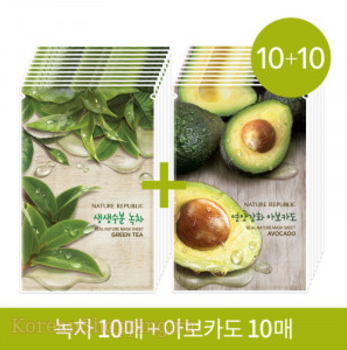 NATURE REPUBLIC Real Nature Mask Green Tea + Avocado