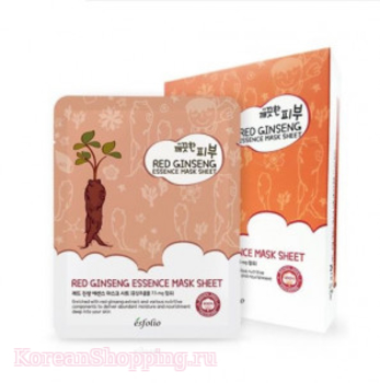ESFOLIO Pure Skin Red Ginseng Essence Mask Sheet