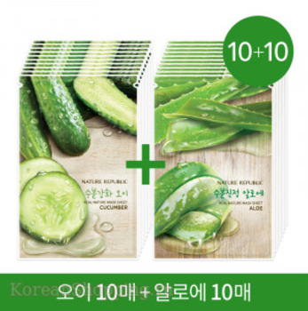 NATURE REPUBLIC Real Nature Mask Cucumber + Aloe