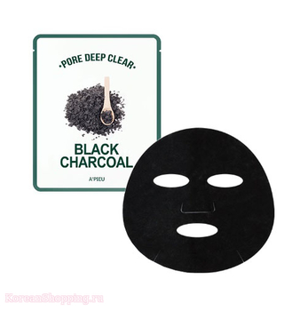 APIEU Pore Deep Clear Black Charcoal Mask