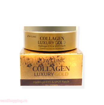3W CLINIC Collagen Luxury Gold Hydrogel Eye & Spot Patch