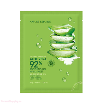 NATURE REPUBLIC Soothing & Moisture Aloe Vera 92% Soothing Gel Mask Sheet