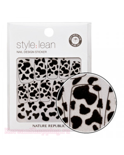 NATURE REPUBLIC Style Lean Nail Design Sticker Black Cow